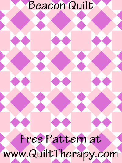 Beacon Quilt Free Pattern at QuiltTherapy.com!