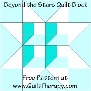 Beyond the Stars Quilt Block Free Pattern at QuiltTherapy.com!