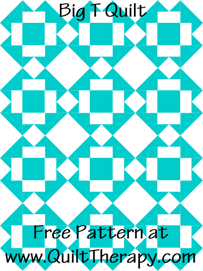 Big T Quilt Free Pattern at QuiltTherapy.com!