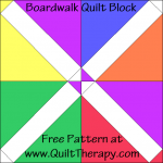 Boardwalk Quilt Block Free Pattern at QuiltTherapy.com!