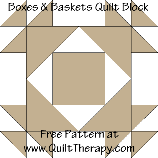 Baskets & Bows Quilt Block Free Pattern at QuiltTherapy.com!