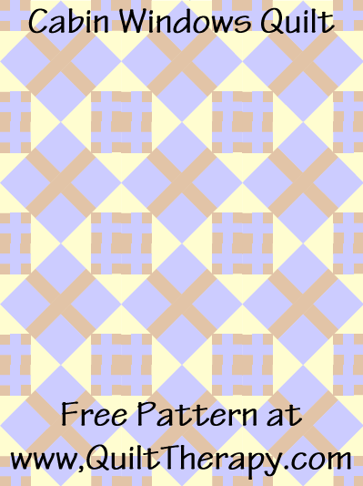 Cabin Windows Quilt Free Pattern at QuiltTherapy.com!