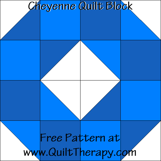 Cheyenne Quilt Block Free Pattern at QuiltTherapy.com!