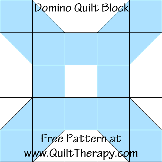 Domino Quilt Block Free Pattern at QuiltTherapy.com!