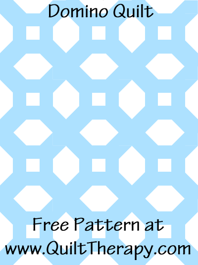 Domino Quilt Free Pattern at QuiltTherapy.com!