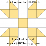 New England Quilt Block Free Pattern at QuiltTherapy.com!