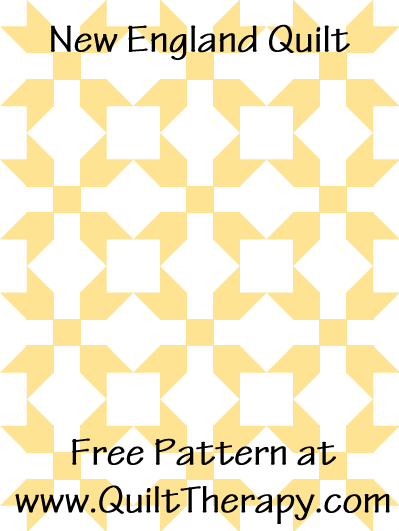 New England Quilt Free Pattern at QuiltTherapy.com!