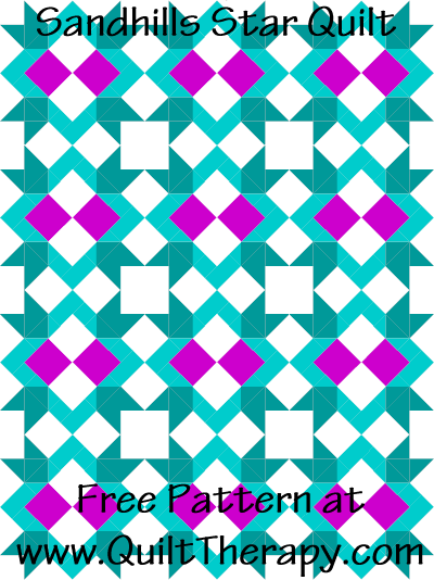 Sandhills Star Quilt Free Pattern at QuiltTherapy.com!