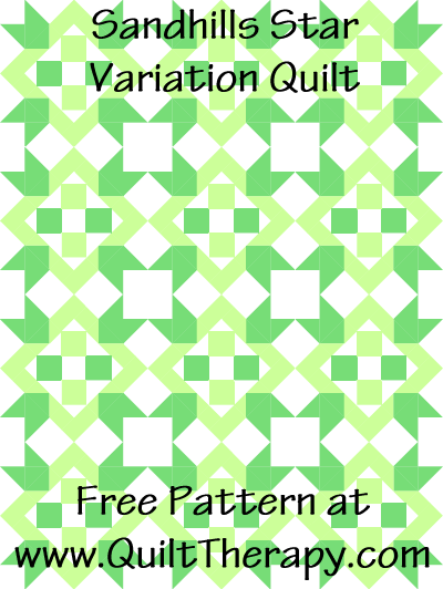 Sandhills Star Variation Quilt Free Pattern at QuiltTherapy.com!