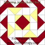 Spinning Jenny Quilt Block Free Pattern at QuiltTherapy.com!