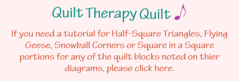Quilt Therapy Quilt Note for Quilt Block Tutorials