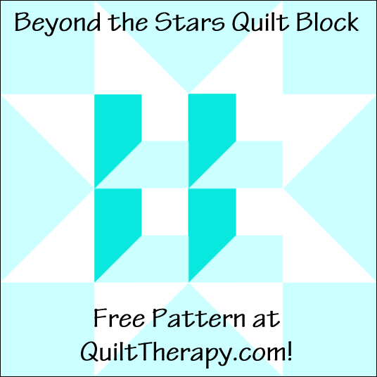 """Beyond the Stars Quilt Block Free Pattern for a 12"""" quilt block at QuiltTherapy.com!"""