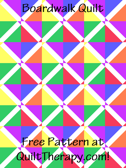 """Boardwalk Quilt is a Free Pattern for a 36"""" x 48"""" quilt at QuiltTherapy.com!"""