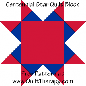 Centennial Star Quilt Block Free Pattern at QuiltTherapy.com!