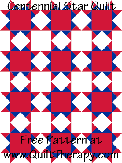 Centennial Star Quilt Free Pattern at QuiltTherapy.com!
