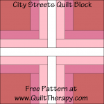 City Streets Quilt Block Free Pattern at QuiltTherapy.com!