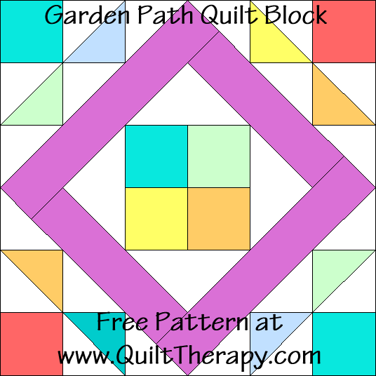 Garden Path Quilt Block Free Pattern at QuiltTherapy.com!