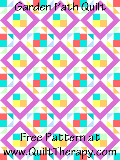 Garden Path Quilt Free Pattern at QuiltTherapy.com!