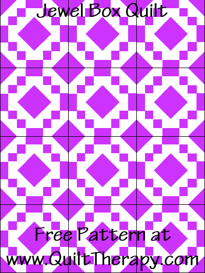 Jewel Box Quilt Free Pattern at QuiltTherapy.com!
