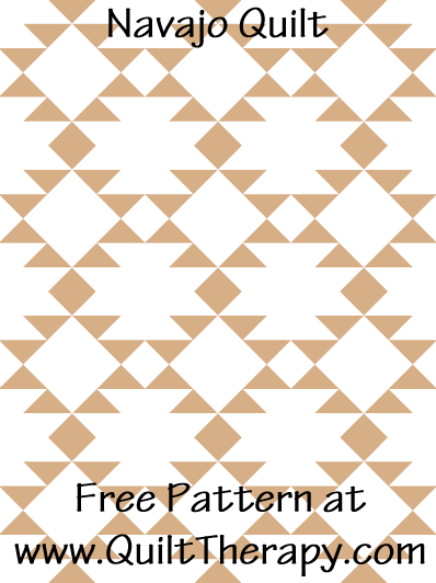Navajo Quilt Free Pattern at QuiltTherapy.com!