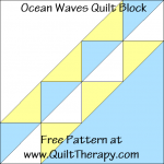 Ocean Waves Quilt Block Free Pattern at QuiltTherapy.com!