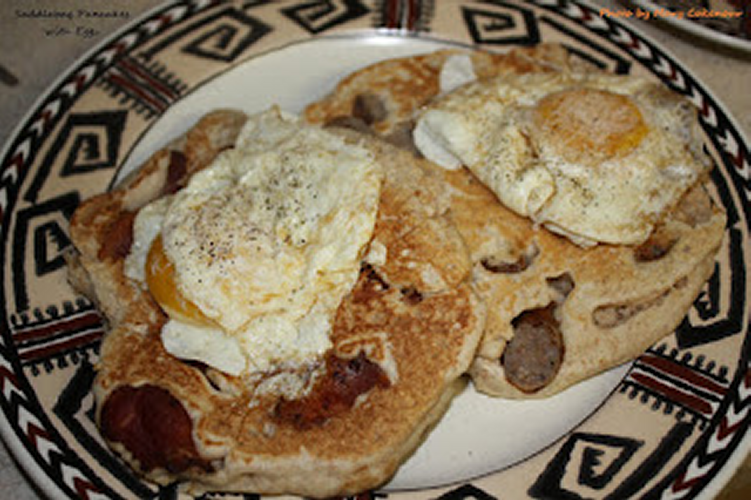 Saddlebag Pancakes is a Free Recipe by Mary Cokenour Food Adventures of a Comfort Cook!