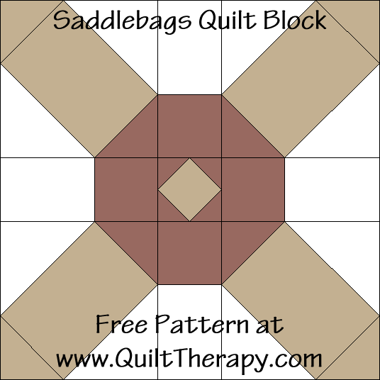 Saddlebags Quilt Block Free Pattern at QuiltTherapy.com!