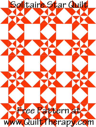 Solitaire Star Quilt Free Pattern at QuiltTherapy.com!
