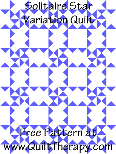 Solitaire Star Variation Quilt Free Pattern at QuiltTherapy.com!