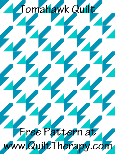 Tomahawk Quilt Free Pattern at QuiltTherapy.com!