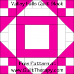 Valley Falls Quilt Block Free Pattern at QuiltTherapy.com!