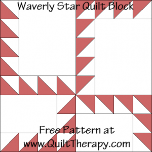 Waverly Star Quilt Block Free Pattern at QuiltTherapy.com!