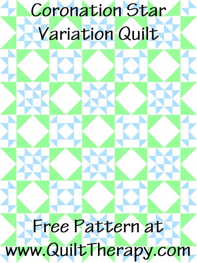 Coronation Star Variation Quilt Free Pattern at QuiltTherapy.com!