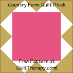"""Country Farm Quilt Block Free Pattern for a 12"""" quilt block at QuiltTherapy.com!"""