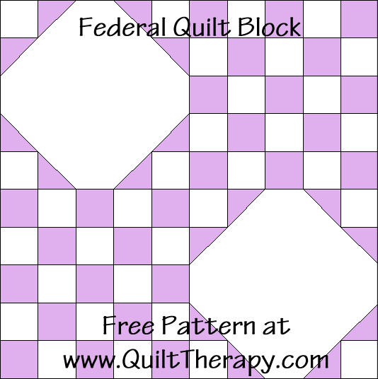 Federal Quilt Block Free Pattern at QuiltTherapy.com!