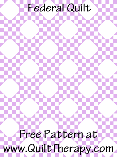 Federal Quilt Free Pattern at QuiltTherapy.com!