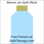 """Mason Jar Quilt Block Free Pattern for a 12"""" quilt block at QuiltTherapy.com!"""