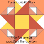"""Paradox Quilt Block Free Pattern for a 12"""" quilt block at www.QuiltTherapy.com!"""