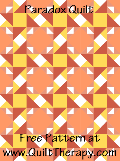 "Paradox Quilt Free Pattern for a 36"" x 48"" quilt at www.QuiltTherapy.com!"