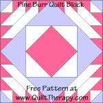 Pine Burr Quilt Block Free Pattern at QuiltTherapy.com!