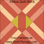 Ribbon Quilt Block Free Pattern at QuiltTherapy.com!