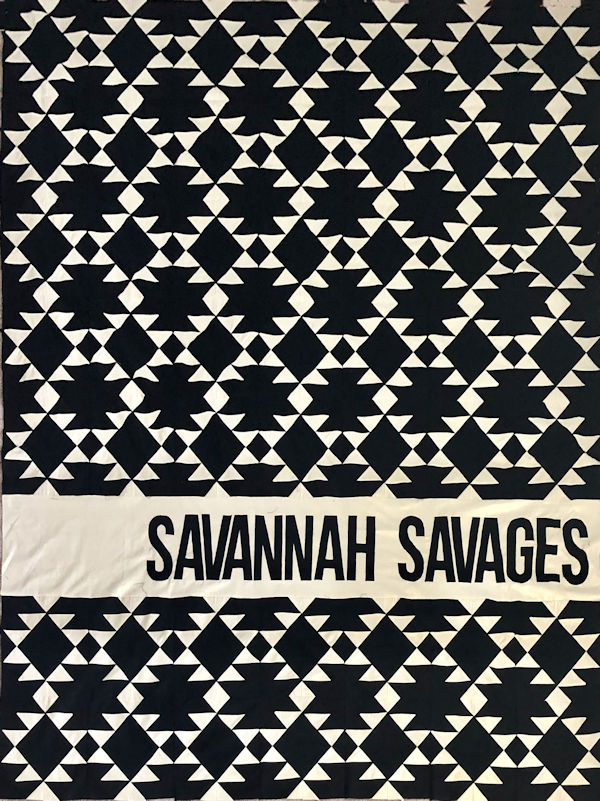 """Savannah Savages"" made by Rachel L. A ""Navajo Quilt"" using TK Harrison's ""Navajo Quilt Block"" from QuiltTherapy.com!"