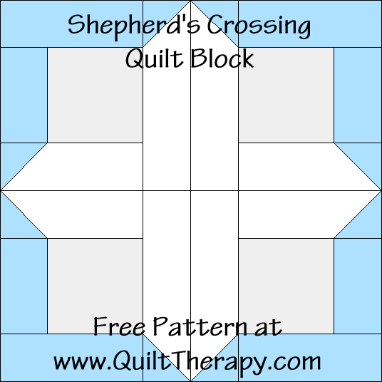Shepherd's Crossing Quilt Block Free Pattern at QuiltTherapy.com!