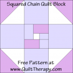 """Squared Chain Quilt Block Free Pattern for a 12"""" quilt block at www.QuiltTherapy.com!"""