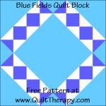 "Blue Fields Quilt Block Free Pattern for a 12"" quilt block at www.QuiltTherapy.com!"
