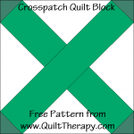 """Crosspatch Quilt Block Free Pattern for a 12"""" quilt block at www.QuiltTherapy.com!"""