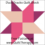 "Duck Tracks Quilt Block Free Pattern for a 12"" quilt block at www.QuiltTherapy.com!"
