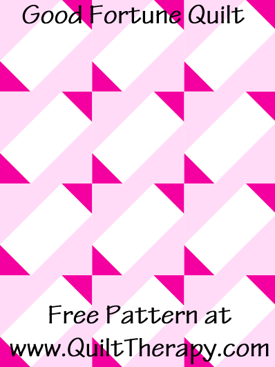 """Good Fortune Quilt Free Pattern for a 36"""" x 48"""" quilt at www.QuiltTherapy.com!"""