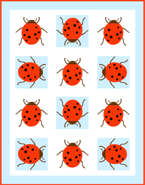 """Miss Ladybug Quilt Pattern"" free to Quilt Dash members who complete the June 2019 Quilt Dash."