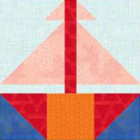 """Sailing Away Quilt Block"" free to Quilt Dash members who complete the July 2019 Quilt Dash."